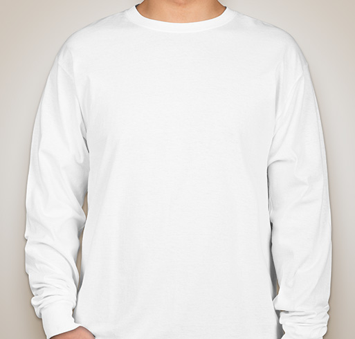Hanes 100% Cotton Long Sleeve T-shirt - White