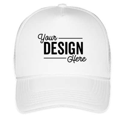 Valucap Foam/Mesh Trucker Hat - White / White