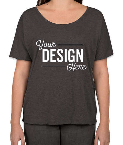 Bella + Canvas Women's Tri-Blend Flowy T-shirt - Charcoal Black Tri-Blend