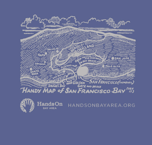 Hands On Bay Area T-Shirt Fundraiser shirt design - zoomed