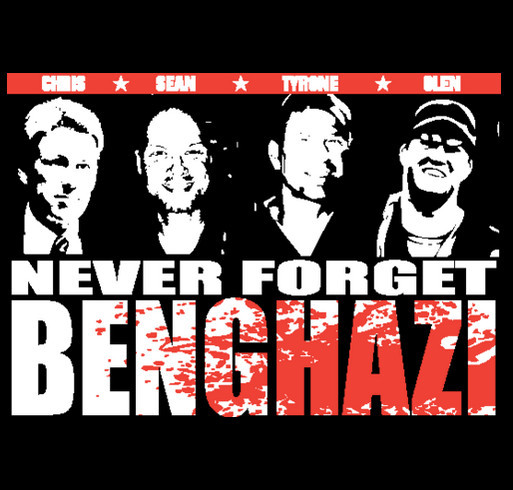 Never Forget Benghazi shirt design - zoomed