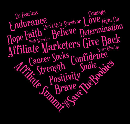 Affiliate Marketers Give Back Fundraiser shirt design - zoomed