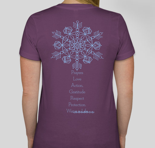Thank You Sacred Water - Every Last Drop Fundraiser - unisex shirt design - back