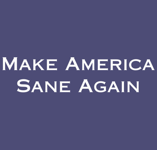Make America Sane Again shirt design - zoomed