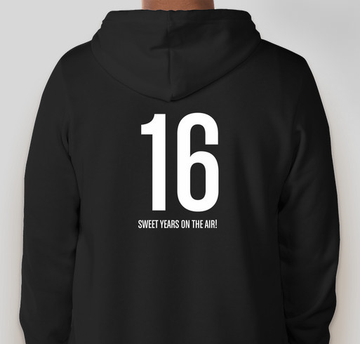 ATMI: 16 Sweet Years on the Air! Fundraiser - unisex shirt design - back