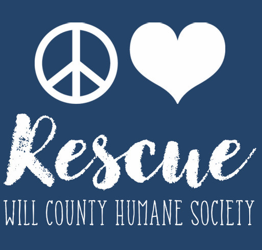 WCHS Peace Love Rescue Tumbler shirt design - zoomed