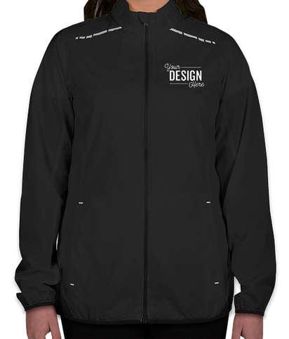 Port Authority Women's Reflective Running Full Zip Jacket - Black