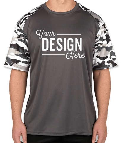 Badger Camo Sleeve Performance Shirt - Graphite / White Camo