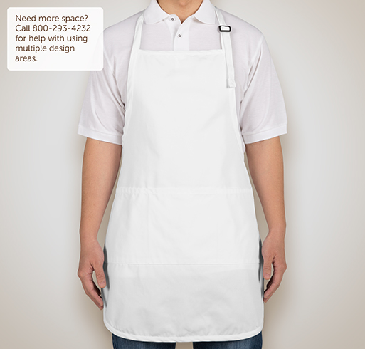Stain Release Full Length Apron - Screen Printed - Selected Color