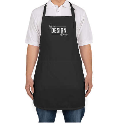 Port Authority Stain Release Full Length Apron - Screen Printed - Black