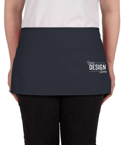 Port Authority Stain Release Waist Apron - Screen Printed - Navy