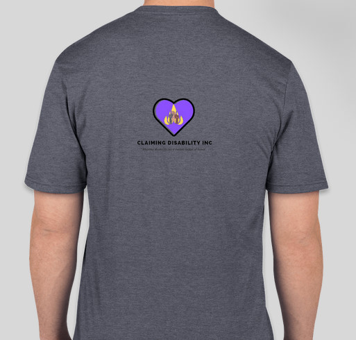 Claiming Disability Fundraiser - unisex shirt design - back