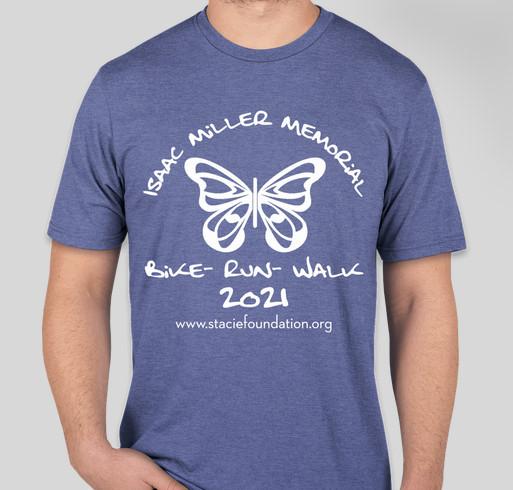 S.T.A.C.I.E. Foundation Isaac Miller Memorial Bike - Run - Walk Fundraiser Fundraiser - unisex shirt design - front