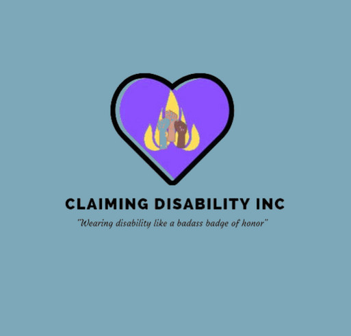 Claiming Disability shirt design - zoomed