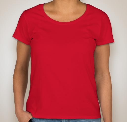 Design custom printed gildan ladies softstyle scoopneck t for Ladies custom t shirts