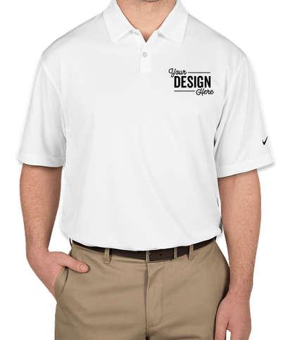Nike Pebble Textured Performance Polo - White