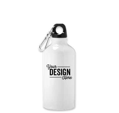 17 oz. Shorty Aluminum Water Bottle - White