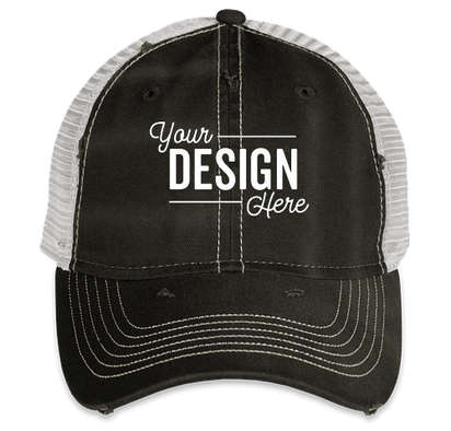 Sportsman Dirty-Washed Trucker Hat - Black / Silver