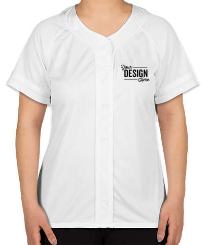 Augusta Women's Winner Softball Jersey - White / White