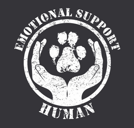 Are you an Emotional Support Human? shirt design - zoomed