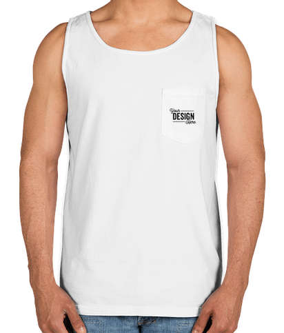 Comfort Colors 100% Cotton Pocket Tank - White
