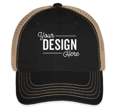District Super Soft Trucker Hat - Black / Khaki