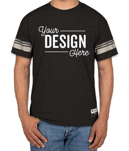 Champion Authentic Tri-Blend Varsity T-Shirt - Black