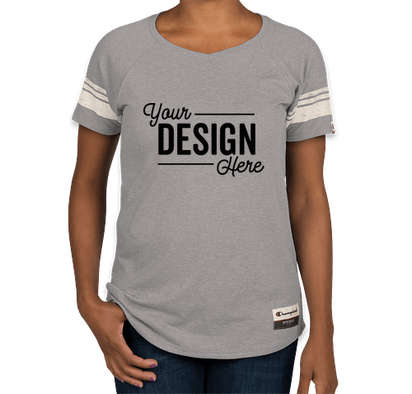 Champion Authentic Women's Tri-Blend Varsity T-shirt - Oxford Grey