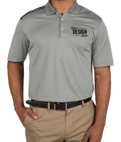 Adidas Climacool 3-Stripes Shoulder Polo - Medium Grey Heather