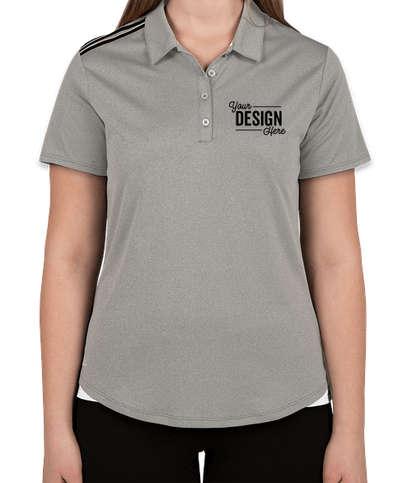Adidas Women's Climacool 3-Stripes Shoulder Polo - Medium Grey Heather