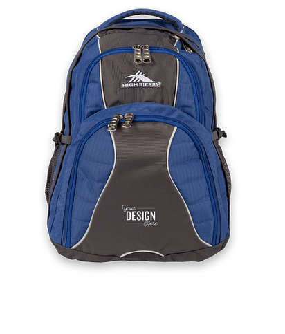 "High Sierra® Swerve 17"" Computer Backpack - Royal"