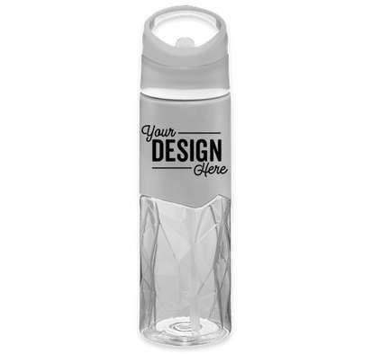 28 oz. Geometric Tritan™ Water Bottle - Clear