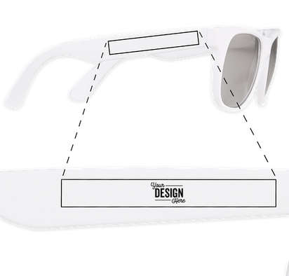 Promotional Mirrored Sunglasses - Silver Tint