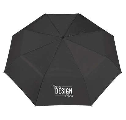 """42"""" Arc Budget Solid Telescopic Umbrella - Black"""