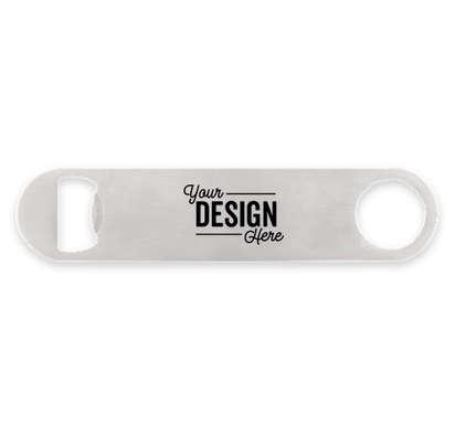 Paddle Metal Bottle Opener - Silver