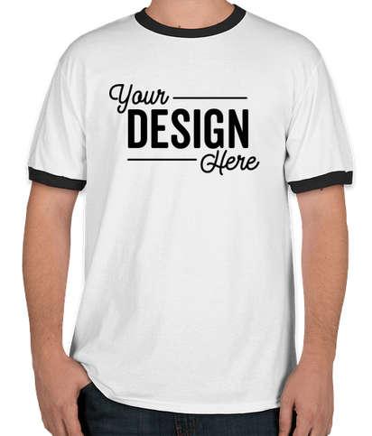 Port & Company Ringer T-shirt - White / Jet Black