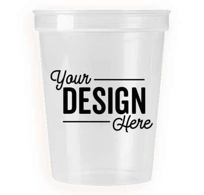 16 oz. Translucent Plastic Stadium Cup - Icee Clear