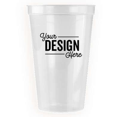 22 oz. Translucent Plastic Stadium Cup - Icee Clear