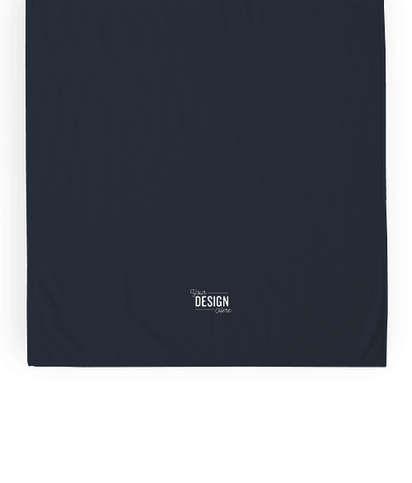 Heavyweight Embroidered Beach Towel - Navy Blue