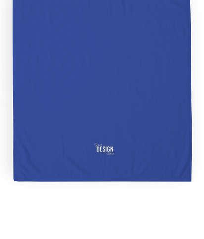 Heavyweight Embroidered Beach Towel - Royal Blue