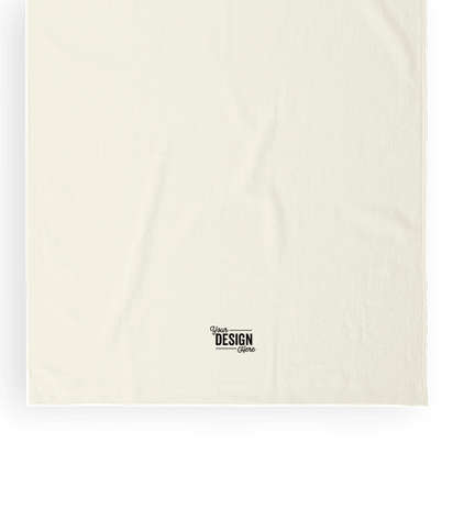 Midweight Embroidered Beach Towel - Natural