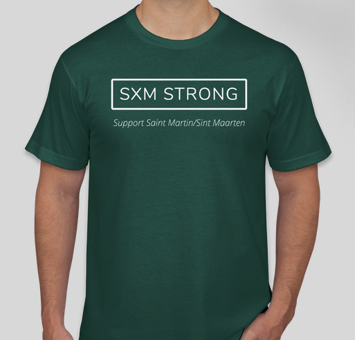 SXM Strong Fundraiser - unisex shirt design - front