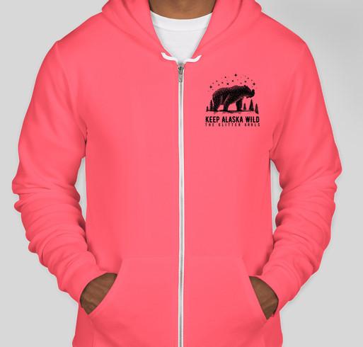 Keep Alaska Wild. Preserve Nature. Protect the Bears. Fundraiser - unisex shirt design - front
