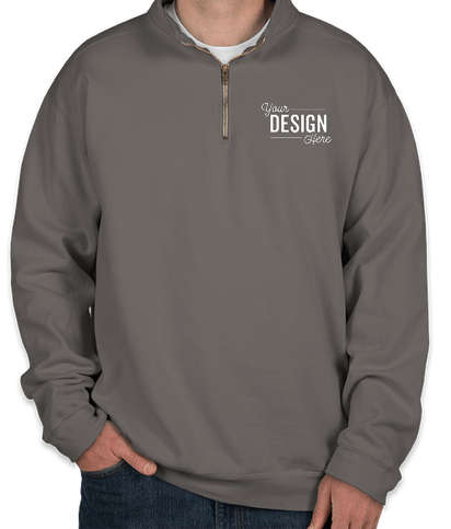 Comfort Colors Quarter Zip Sweatshirt - Pepper