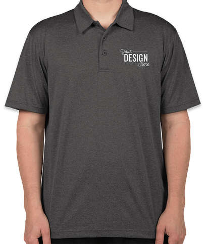 Sport-Tek Heather Contender Performance Polo - Embroidered - Graphite Heather