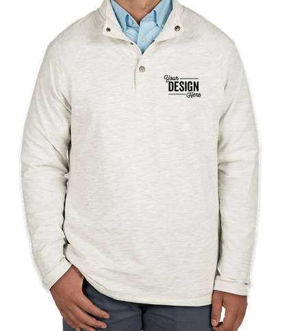 Charles River Falmouth Snap Button Pullover - Ivory Heather