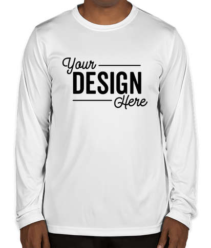 Team 365 Zone Long Sleeve Performance Shirt - White