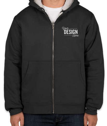CornerStone DWR Heavyweight Sherpa-Lined Hooded Work Jacket - Black