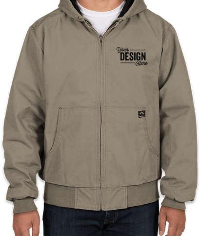 Dri Duck Cheyenne Hooded Boulder Cloth™ Work Jacket - Gravel