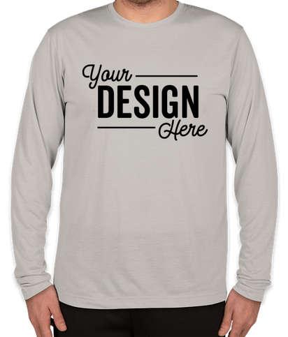 Sport-Tek Soft Jersey Long Sleeve Performance Shirt - Silver